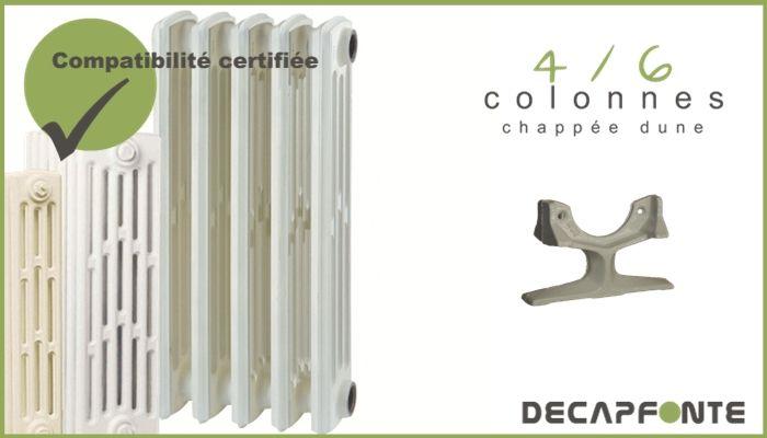 pied pour radiateur fonte chappee prix. Black Bedroom Furniture Sets. Home Design Ideas