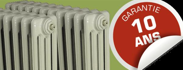 garantie radiateur fonte