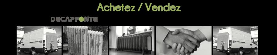 radiateur fonte occasion entre particuliers decapfonte. Black Bedroom Furniture Sets. Home Design Ideas