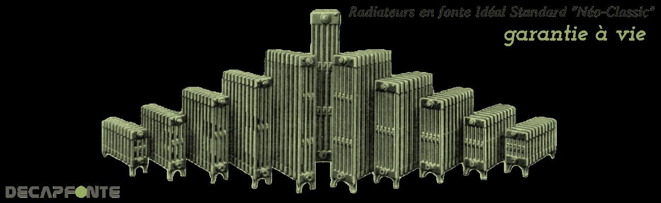 Radiateur fonte occasion en image Decapfonte